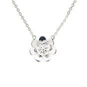 Argento Silver Double Daisy Necklace