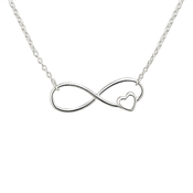Argento Silver Infinity Heart Necklace