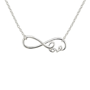 Argento Silver Infinity Love Necklace