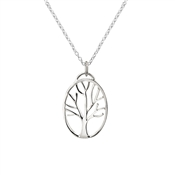 Argento Oval Tree Necklace
