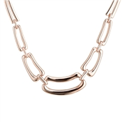 August Woods Rose Gold Graduated Rectangle Link Necklace