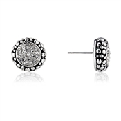 August Woods Society Pave Pebble Border Studs