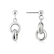Argento Silver Interlinked Ring Earrings