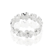 August Woods Frosted Floral Crystal Bracelet