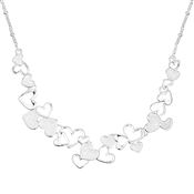 August Woods Frosted Hearts Necklace
