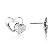 August Woods Frosted Hearts Studs
