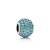 Pandora Teal Pavé Lights Charm
