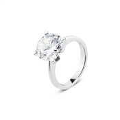 Argento Outlet Solitaire Crystal Ring