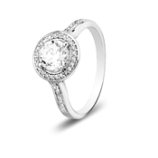 CZ Halo Ring by Argento