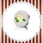 My Bon Bons White Violet Charm by Nomination