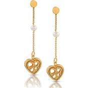 Nomination Verona Gold Heart Drop Earrings