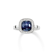Thomas Sabo Dark Blue Square Ring