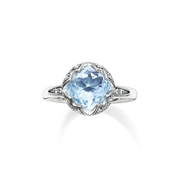 Thomas Sabo Light Blue Round Ring