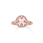 Thomas Sabo Round Rose Quartz Ring