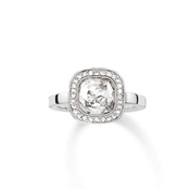 Thomas Sabo Silver Cz Square Ring