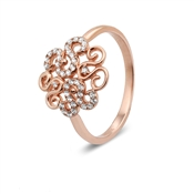 Argento Outlet Rose Gold Swirl Ring