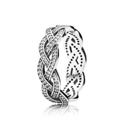 Pandora Braided Crystal Ring