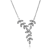 PANDORA Sparkling Midnight Leaves Necklace