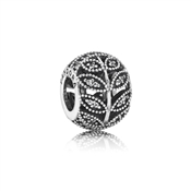 PANDORA Sparkling Midnight Leaves Charm