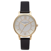Olivia Burton Wonderland Black & Gold Watch