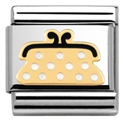 Nomination Gold Polkadot Purse Charm