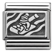 Nomination Silver Sledging Charm