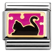 Pink Cat Charm by Nomination