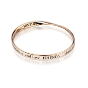 Affirmations Rose Gold Friend Bracelet