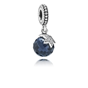 Pandora Midnight Blue Moon and Star Pendant