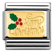 Nomination  Enamel Merry Christmas Charm