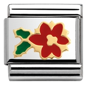 Nomination  Enamel Christmas Star Flower Charm