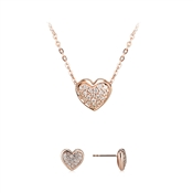 Argento Pave Heart Gift Set