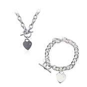 Argento T-Bar Hearts Gift Set