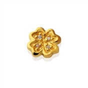 Storie Gold Clover Charm