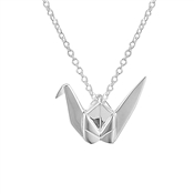 Argento Origami Crane Necklace