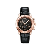 Thomas Sabo Rose Gold Black Leather Watch