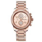 Thomas Sabo Rose Gold Cz Chrono Watch