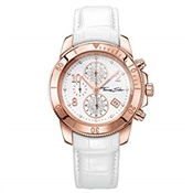 Thomas Sabo Rose Gold White Leather Watch