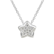 Argento CZ Star Necklace