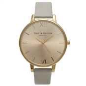 Olivia Burton Big Dial Grey and Gold Watch