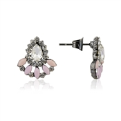 Dirty Ruby Outlet Gunmetal Pink Studs