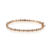 August Woods Rose Gold Bubbles Bangle