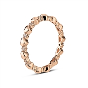 August Woods Rose Gold Heart Crystal Midi Band