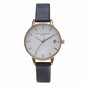 Olivia Burton Midi White Dial & Navy Watch