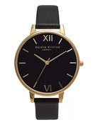 Olivia Burton Black & Gold Watch