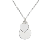 Argento Heart and Plate Necklace
