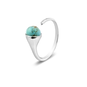 Argento December Birthstone Turquoise Ring