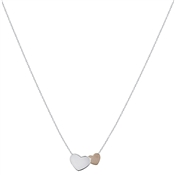 Argento Rose Gold Two Hearts Necklace