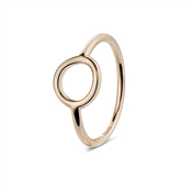 Argento Outlet Rose Gold Open Circle Ring