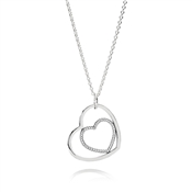 PANDORA Delicate Hearts Pendant Necklace